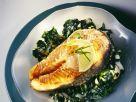 Salmon with Creamy Spinach recipe