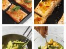 Salmon with Potato and Summer Squash Salad recipe
