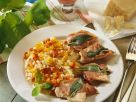 Saltimbocca with Bell Pepper Risotto recipe