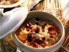 Sauerkraut and Sausage Stew with Smoked Duck Breast recipe