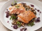 Sauteed Salmon with Lentils recipe