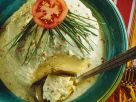 Savory Crêpe Cake with Herb Yogurt Sauce recipe
