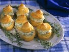 Savory Profiteroles with Chicken Filling recipe