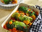 Savoy Cabbage Rolls Stuffed with Pumpkin and Sweet Potatoes recipe