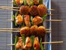 Scallop and Chicken Skewers recipe
