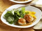 Scallops with Orange Sauce and Arugula recipe