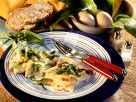 Scrambled Eggs with Bacon and Wild Garlic recipe