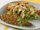 Sesame-Breaded Flounder with Salad recipe