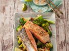 Sesame Crusted Salmon with Broccoli recipe