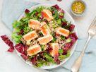 Sesame Salmon on Greens recipe