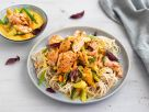 Shredded Salmon on Asian Noodles with Coconut Vegetable Sauce recipe