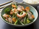 Shrimp, Pork and Vegetable Stir Fry recipe