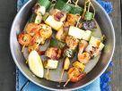 Shrimp, Salmon and Zucchini Skewers recipe