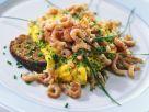 Shrimp Scrambled Eggs with Black Bread recipe