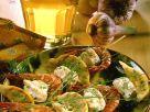Shrimp Skewers with Monkfish and Lemon recipe
