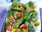 Simple Chicken and Beetroot Leaf Salad recipe