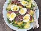 Sliced Tuna and Egg Platter recipe