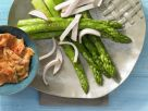 Smoked Chicken with Asparagus and Eggs recipe
