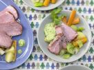 Smoked Ham with Parsley-Almond Sauce recipe