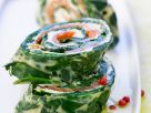 Smoked Salmon and Spinach Rolls recipe
