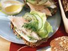 Smoked Trout, Cucumber and Cress on Whole-Grain Bread recipe