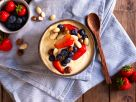 Mango Smoothie Bowl with Nuts and Greek Yogurt recipe