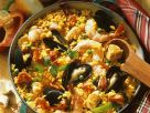 Spanish Paella Rice with Mussels and Shrimp recipe