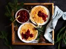 Spelt Waffles and Spiced Cherry Compote recipe