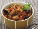 Spicy Aubergine and Bacon Stew recipe