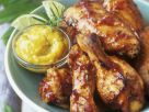 Sticky Bbq Wings with Mango Sauce recipe