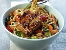Spicy Glazed Tofu, Vegetables and Noodles recipe