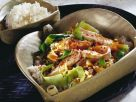 Spicy Stir-Fried Cabbage with Salmon recipe