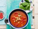 Spicy Vegetable Soup with Garbanzo Beans recipe