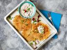 Spicy Waffles with Dip recipe