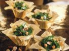 Spinach and Hazelnut Salad in Filo Cups recipe