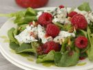 Spinach and Raspberry Salad with Gorgonzola recipe