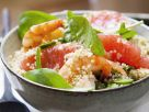 Spinach Salad with Quinoa, Shrimp, and Grapefruit recipe