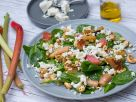 Spinach Salad with Rhubarb and Feta recipe
