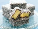 Sponge Cake with Coconut-Chocolate Shell recipe