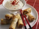 Spring Rolls with Spicy Cream Cheese Dip recipe