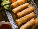 Spring Rolls with Spicy, Sweet and Sour Sauce recipe