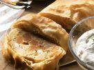Squash and Feta Strudel with Herbed Quark Dip recipe