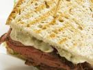 Stacked Roast Beef and Tartar Sauce Sandwiches recipe