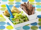 Steak and Caesar Salad with Croutons recipe