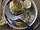Steamed Artichokes with Citrus Aioli recipe