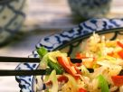 Stir Fried Cabbage and Peppers with Rice recipe