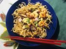 Stir-Fried Noodles with Shrimp Tails and Vegetables recipe