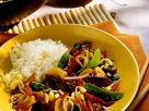 Stir Fried Vegetables with Rice recipe