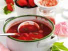Strawberry, Rhubarb and Lemon Verbena Jam recipe
