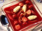 Strawberry-rhubarb Gazpacho with Dumplings recipe